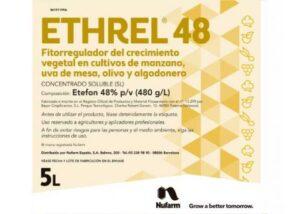 Ethrel regulador de desarrollo y floración