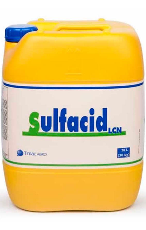 SULFACID LCN, es un corrector líquido para acidificación